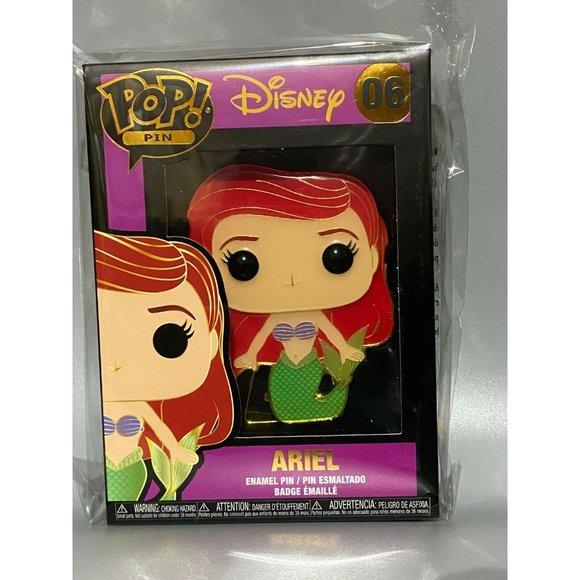 Funko Pop! Large Enamel Pin: Ariel Disney Princess